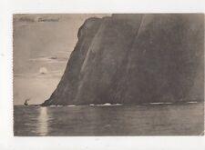 Nordkap Midnatssol Norway Vintage Postcard 489a