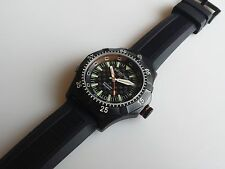NAUTICFISH by SCHAUMBURG, H3GEN Diver watch PVD Tritium Swiss Auto Unworn-LNIB