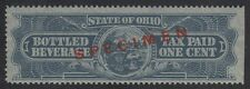 OHIO State Revenue Beer Tax Stamp SRS OH B17S