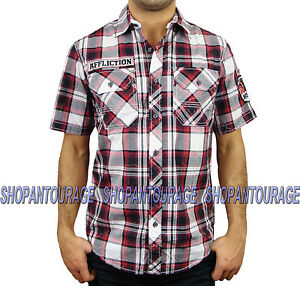 Affliction South Of Heaven 110WV362 Men`s New Crimson Red S/S Button-Down Shirt