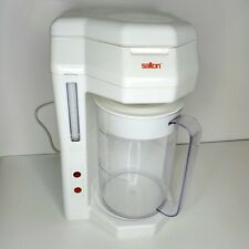 Salton Iced Tea & Iced Coffee Maker Machine Brewer KM-44 White 2 Liter, Tested