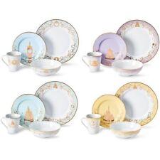 Disney Princess Themed 16 Piece Ceramic Dinnerware Set Plates/Bowls/Mugs Nib