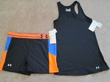 NEW Womens UNDER ARMOUR 2Pc ATHLEISURE Outfit Tank+COMPRESSIOShorts LG FREE SHIP