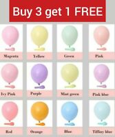 "10"" Inch pastel macaron latex party birthday/ wedding baby air / helium balloon"
