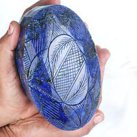 Natural Blue Sapphire 2.5 Kilo+ Big Museum Size Moghul Carved Certified Gemstone
