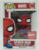Funko Pop! Marvel #160 Collector Corps Exclusive Spider-Man + Protector Damaged