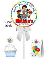 40 PAW PATROL BIRTHDAY PARTY FAVORS LOLLIPOP STICKERS ~ goody bags, seals ETC