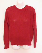 American Apparel Red Fisherman Knitted Jumper Size XS