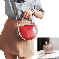 Round Clear Crossbody Bag Messenger Handbag Tote Shoulder Purse with Inner Po J8