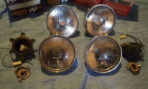 Lancia Beta FL2 set of 4 headlight beams (SIEM / Carello) Right hand drive