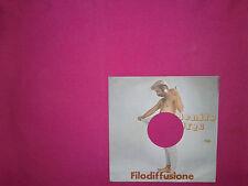 """Benito Urgu – Filodiffusione - Copertina Forata Per Disco Vinile 45 Giri 7"""""""