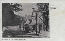 Nice View down Main Street, Dallas PA handsome vintage postcard unused
