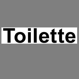 Aufkleber 20cm Toilette Sticker Wegweiser WC BAD 00 Klo Tür Schild 4061963016961