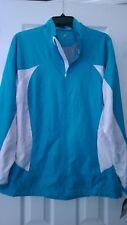NWT Ladies LEVELWEAR Turquoise Long Sleeve Windbreaker Golf Jacket - size XL