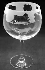 More details for pomeranian frieze boxed 70cl glass gin balloon