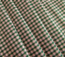Green Gingham Checked VW CAMPERVAN Van Curtains T2 T5 T25 Custom Made *Lined*