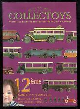 COLLECTOYS  12 eme  vente de jouets anciens     1 avril 2000