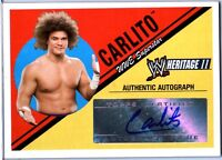 WWE Carlito 2006 Topps Heritage II Authentic Autograph Card DWC2