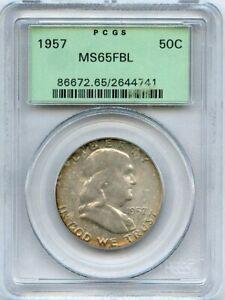 1957 Franklin Half Dollar 50c PCGS MS 65FBL