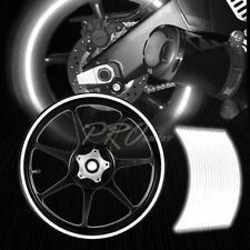 "16/17/18/19"" Reflective Rims Tape/Wheel Rim Decal Stripes Sticker Glowing White"