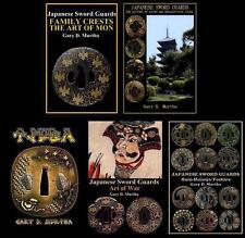 Five English Japanese Samurai Sword Guard Tsuba Books 2012-17