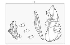 Genuine Mercedes-Benz Tail Lamp Assembly 209-820-13-64