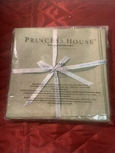 Princess House Home Fabric Cortland Green Napkins #1350 Set Of 4 New In Bag