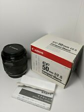 Canon EF 50mm f/2.5 Compact Macro Lens - in original box with instructions