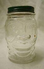 vintage Lucky Joe Lewis Glass Mustard Jar Bank 1930s black Americana coin sports