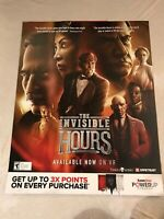 """The Invisible Hours EXCLUSIVE Gamestop Promo Poster 22 x 28"""" Xbox Ps4 Steam Game"""