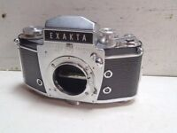 Vintage Exakta Ihagee Dresden VX 35mm Camera Marked USSR Occupied