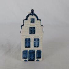 Vintage KLM Airline Holland Blue Delft House 21 De Salamander House Ashtray 1963