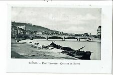 CPA Carte Postale-Belgique-Liège-Pont Léopold Quai de la Batte début 1900