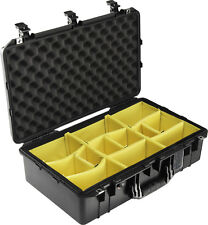 Black Pelican 1555 Air case  With Padded Dividers.