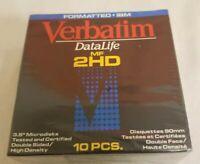 Verbatim Floppy Disk 10 Pieces DataLife MF 2HD Formatted IBM Vintage 1996 * New