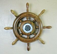 Vintage Ship Boat Steering Wheel Style Nautical Wall Decor Clock