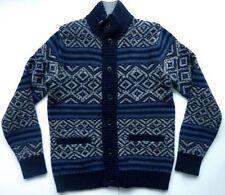 Argyle, Diamond Wool Blend Button-Front Men's Jumpers & Cardigans