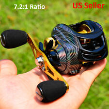 7.2:1 High Speed Fishing Baitcasting Reels Fresh Water Left Right Hand 22lb Drag