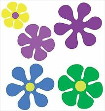 Retro Flower Wallies Stickers Decals Cutouts 12110