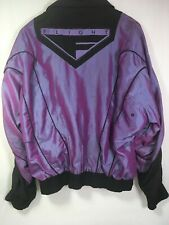 RARE Vintage 90's Purple NIKE Air Flight Era Windbreaker Jacket Large Iridescent