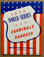 1943 WORLD SERIES BASEBALL PROGRAM NEW YORK YANKEES @ CARDINALS - OPIE 781/1000