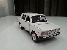 VAZ 2107 LADA Blanco Ligero y Sonido Modelo Juguete Coche de metal regalo