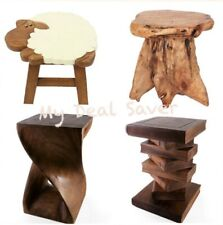 Twist Table Teak Root Sheep Stool Hand Carved Small Side Storage Coffee End Desk