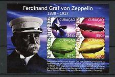 Curacao 2015 MNH Ferdinand Graf von Zeppelin 4v M/S Airships Zeppelins
