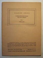 SOLDIER SHOWS 1945 26-Week Entertainment Program Part 7 WAR DEPARTMENT WWII - E1