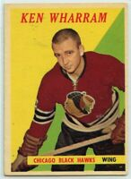 1958-59 Topps Hockey #14 Ken Wharram RC VG-EX Condition (2020-13)