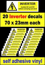 INVERTER FV 20 isolare AC DC ADESIVI Solar etichetta di avvertimento adesivo ad alta tensione