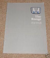 Motor Show 1988 Honda UK Range Brochure