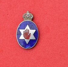 vintage small Ulster military?  Police ?  Badge No pin flatback Northern Ireland