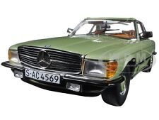 1977 MERCEDES 350 SL HARD TOP COUPE SILVER GREEN 1/18 MODEL CAR SUNSTAR 4569